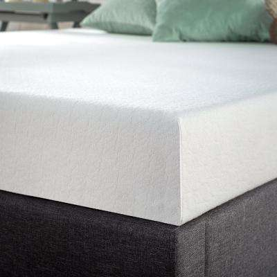 6 in. Green Tea Twin Memory Foam Mattress