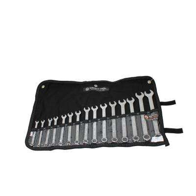 WrightGrip 12-Point Metric Combination Wrench Set (15-Piece)