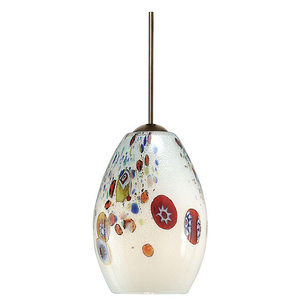 Mini-Monty 1-Light White Bronze Hanging Mini Pendant