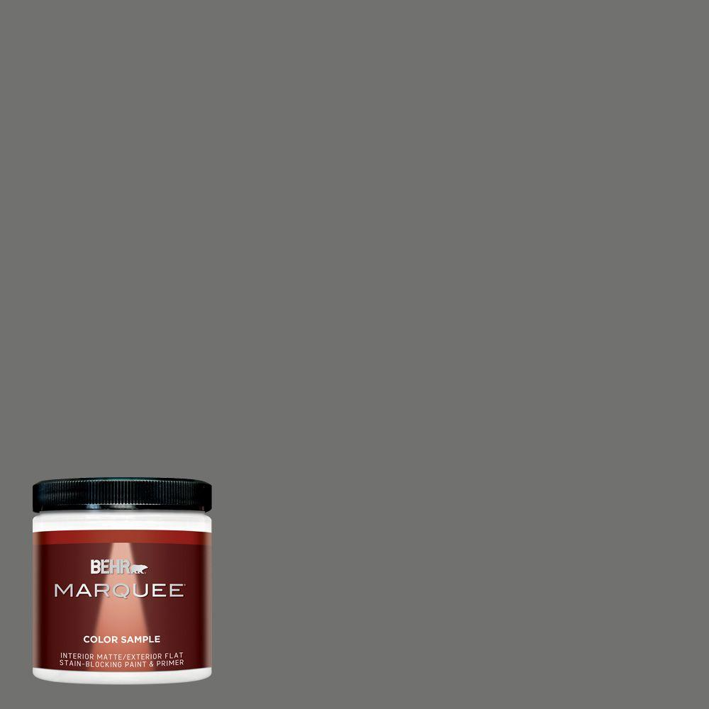 BEHR MARQUEE 8 oz. #MQ2-61 Magnet Matte Interior/Exterior Paint and ...