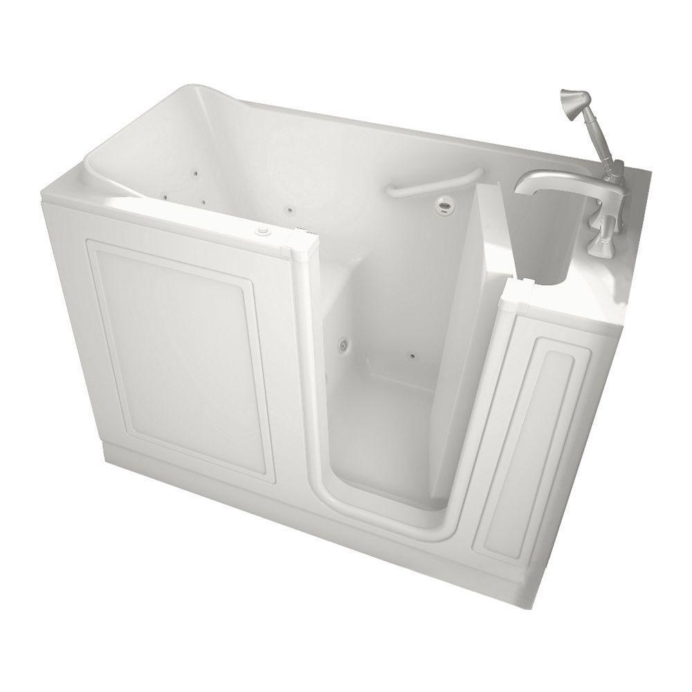American Standard Acrylic Standard Series 51 in. x 26 in. Walk-In Whirlpool Tub with Quick Drain in White