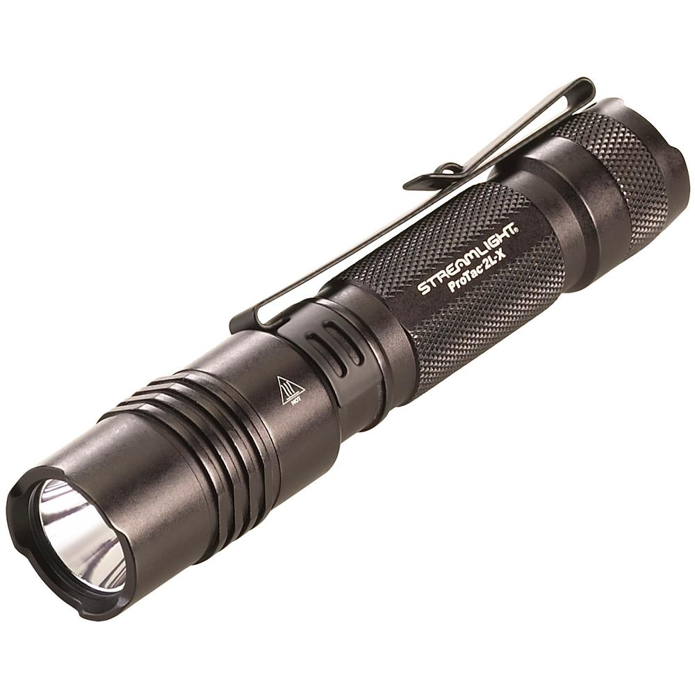 Streamlight ProTac 2L X Includes 2 CR123A Lithium Batteries and Holster Clam in Black