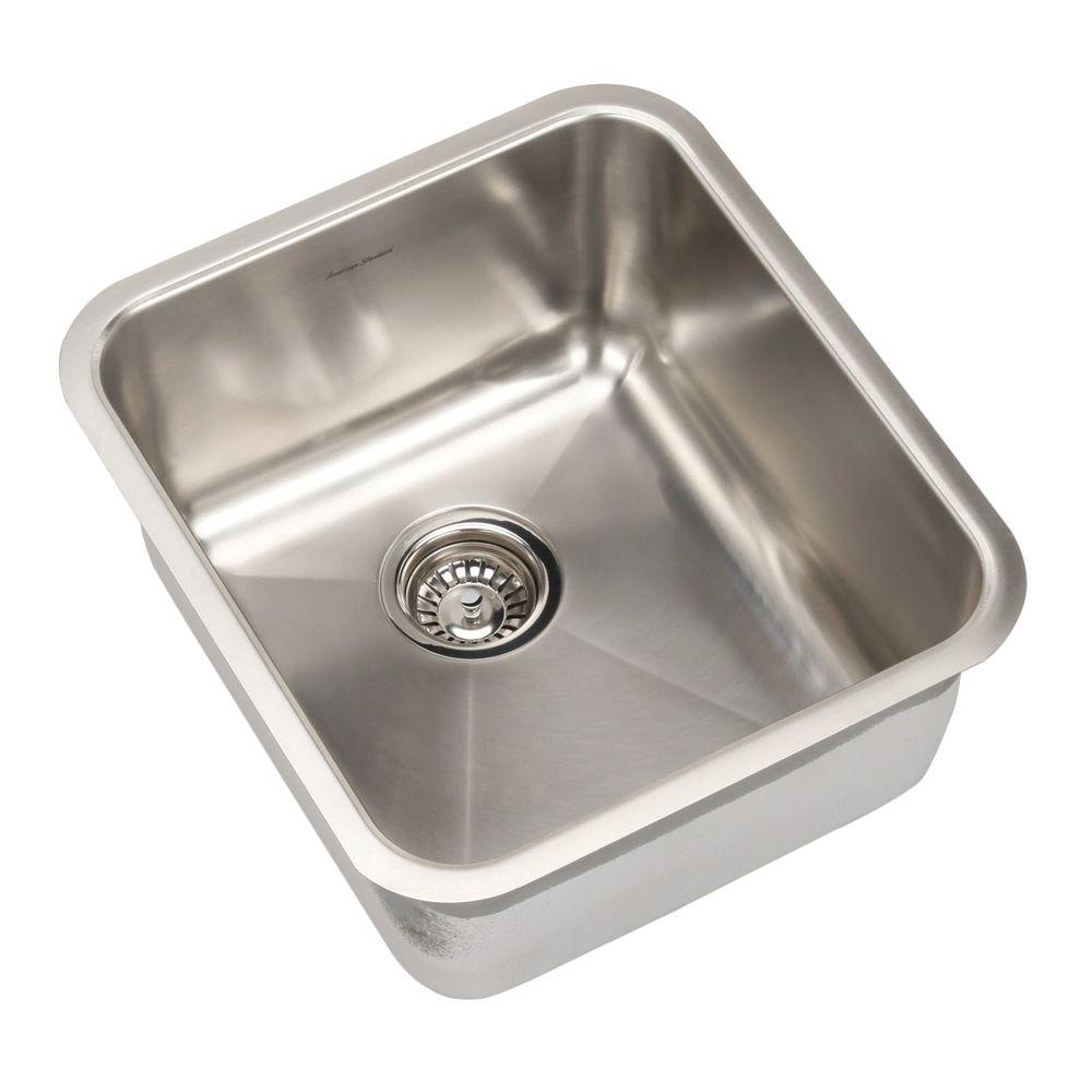 american standard prevoir undermount brushed stainless steel 16 75 in  0 hole basin single bowl american standard prevoir undermount brushed stainless steel 16 75      rh   homedepot com