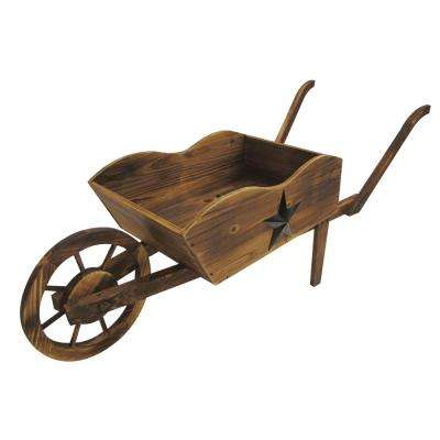 Wheel Barrow Wood Planter
