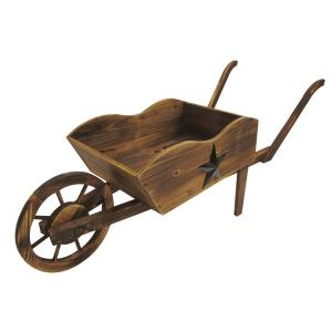 Leigh Country Wheel Barrow Wood Planter by Leigh Country