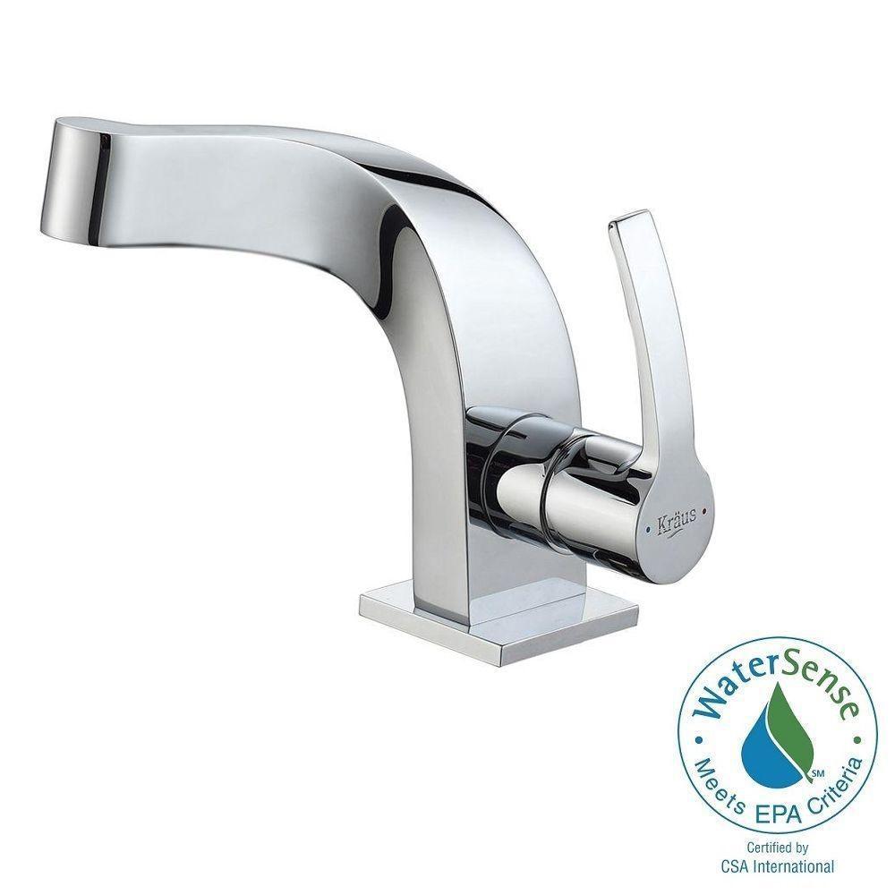 Typhon Single Hole Single-Handle Mid-Arc Bathroom Faucet in Chrome
