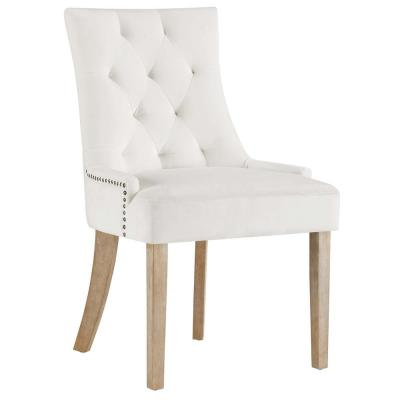 Pose Ivory Upholstered Fabric Dining Chair