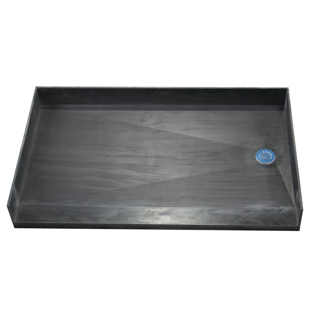 Tile Redi 35 in. x 54 in. Barrier Free Shower Base with Right Drain