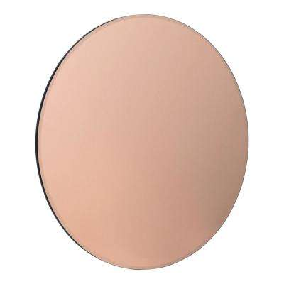 Azalea Round Rose Gold Wall Mirror