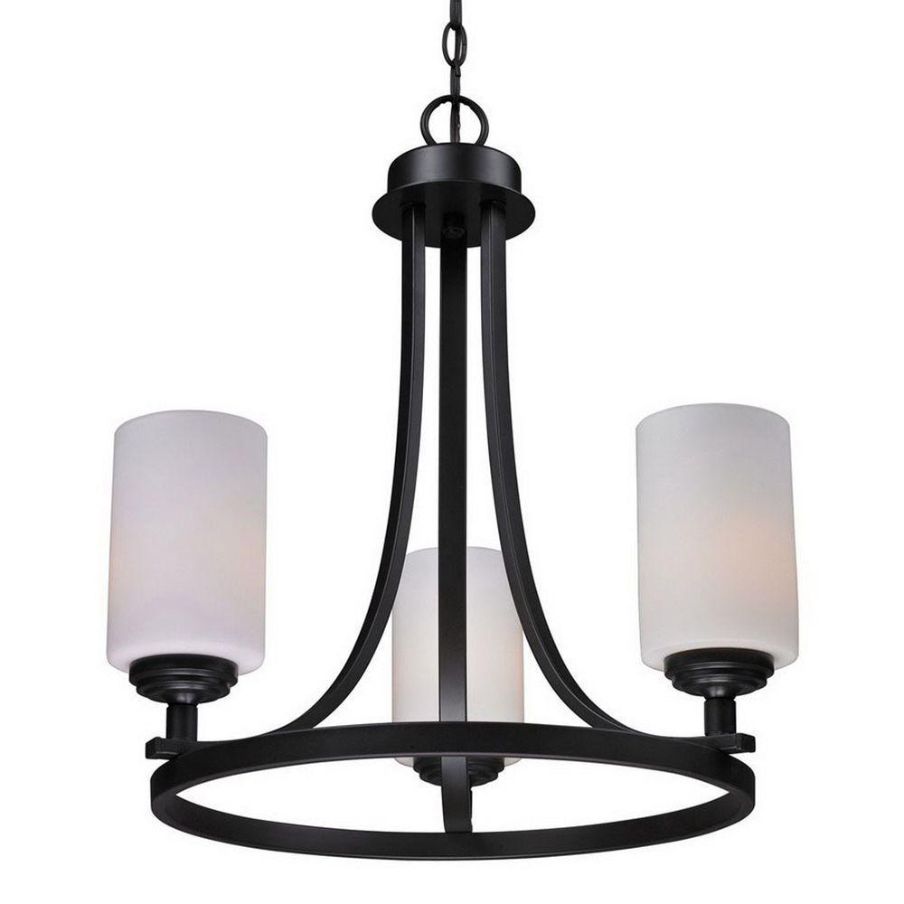 Filament Design Lawrence 3-Light Oil-Rubbed Bronze Incandescent Ceiling Chandelier