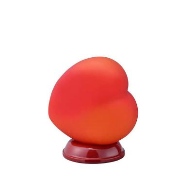 8.5 in. Red Heart Shape Table Lamp