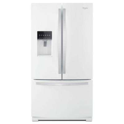 36 in. W 27 cu. ft. French Door Refrigerator in White Ice