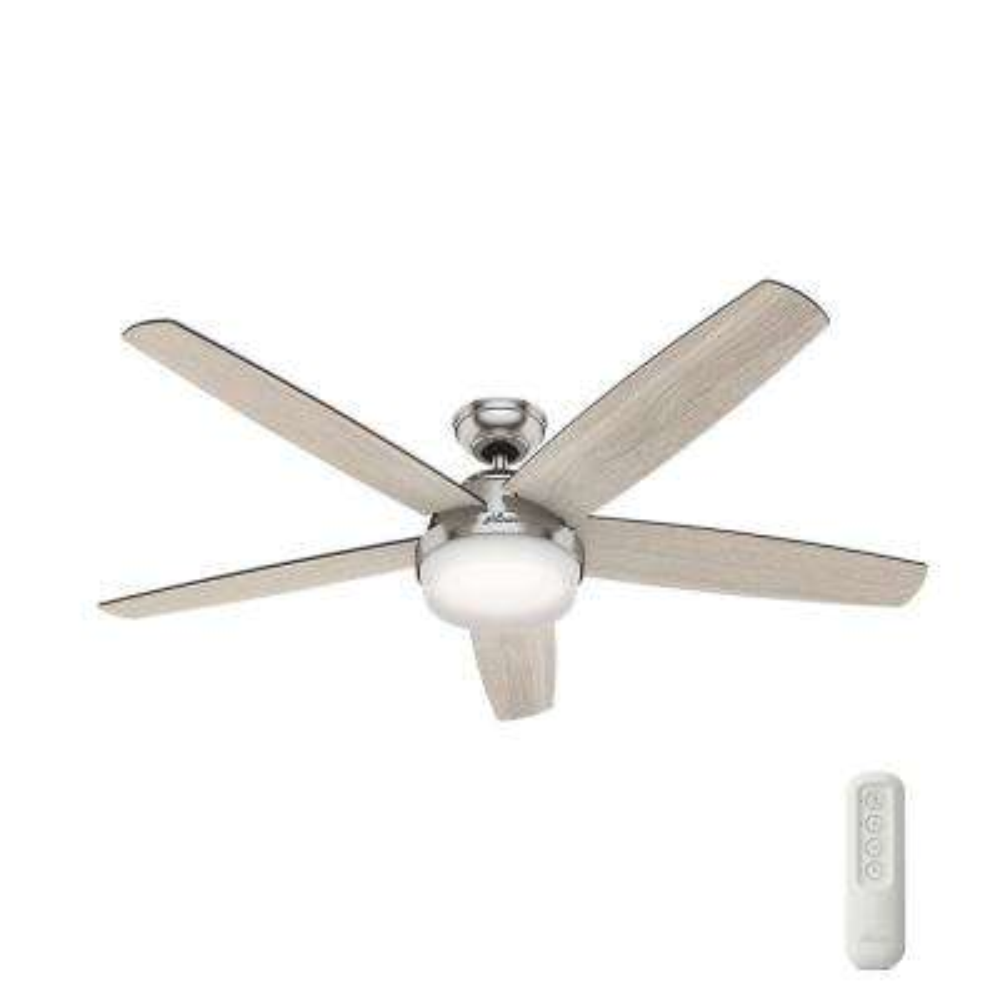 Salido 60 in. LED Indoor Brushed Nickel Ceiling Fan