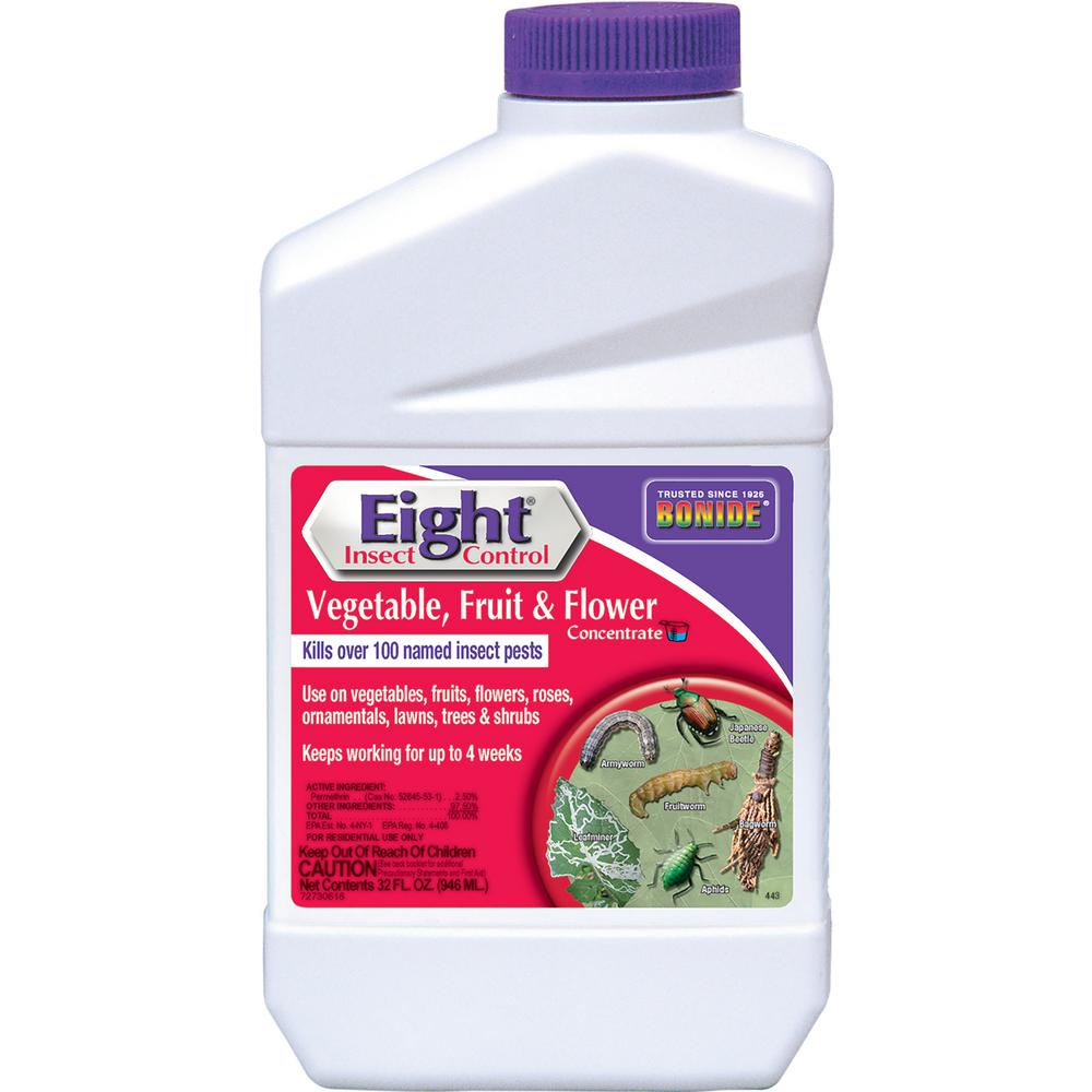 Bonide 32 oz. Eight Insect Control Vegetable/Fruit/Flower Concentrate