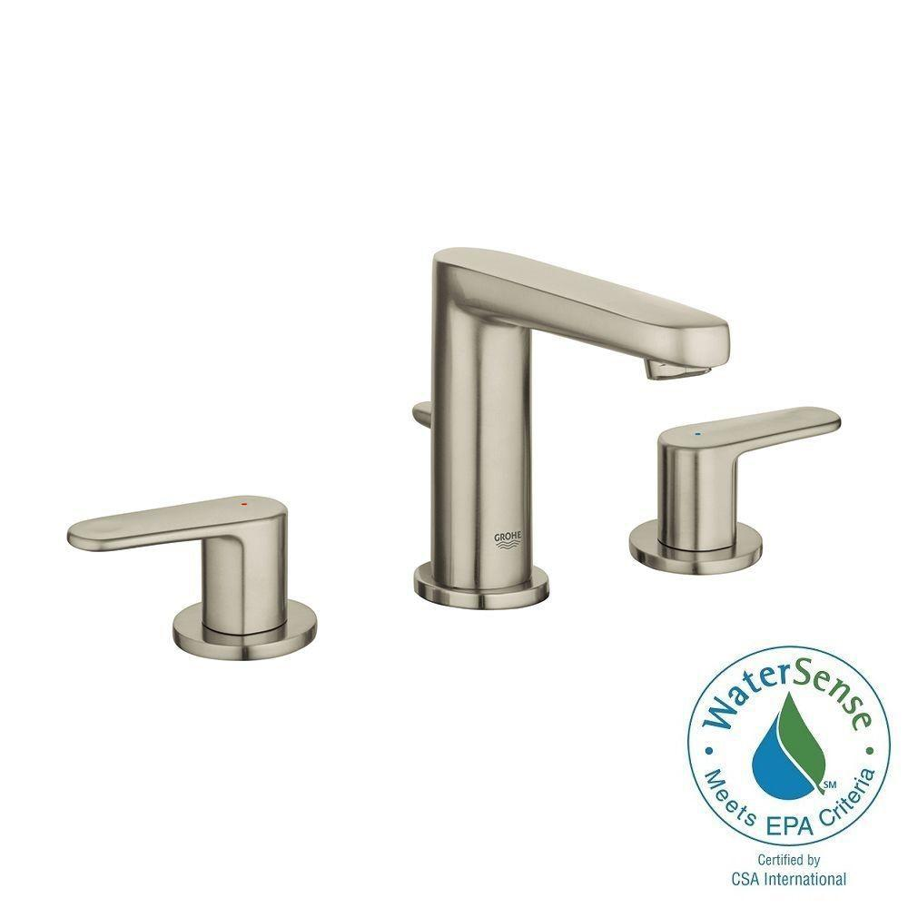 GROHE Europlus 8 in. Widespread 2-Handle Bathroom Faucet in ...