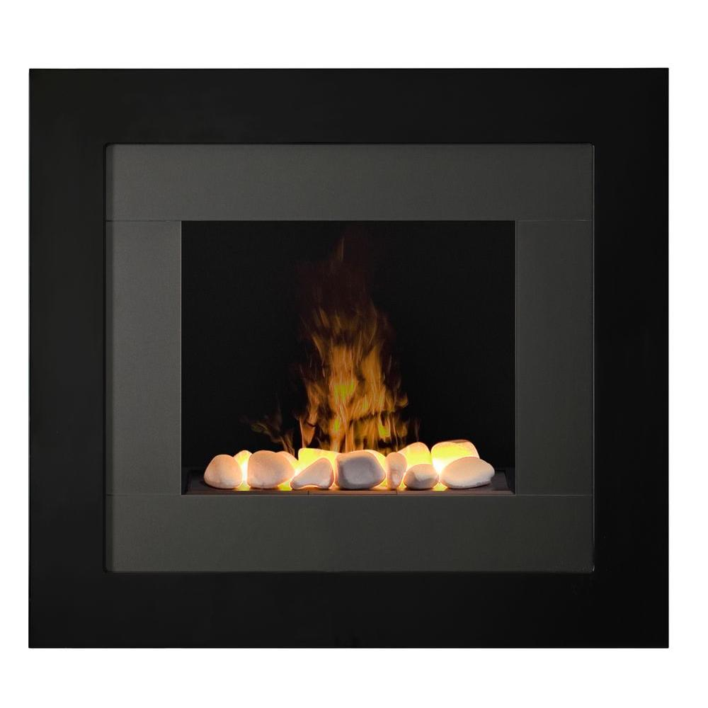 Dimplex Redway Wall-Mount Electric Fireplace in Black is the best solution for creating a bold style statement in your home or office.