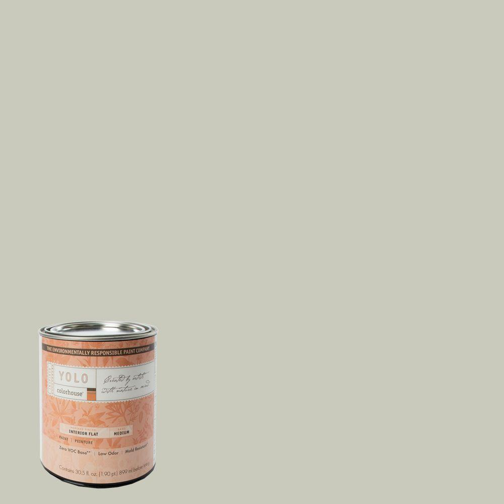 YOLO Colorhouse 1-Qt. Stone .04 Flat Interior Paint-DISCONTINUED