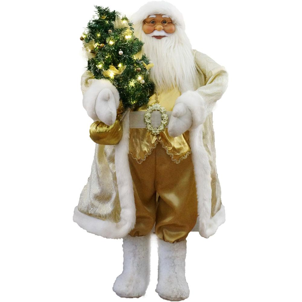 36 in. Christmas Music and Motion Santa with Christmas Tree