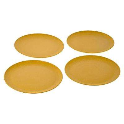 EVO Sustainable Goods 10 in. Yellow Eco-Friendly Wood-Plastic Composite Plate (Set of 4)