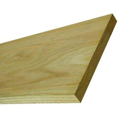 4 ft. x 7-1/4 in. x 3/4 in. Red Oak Stair Riser