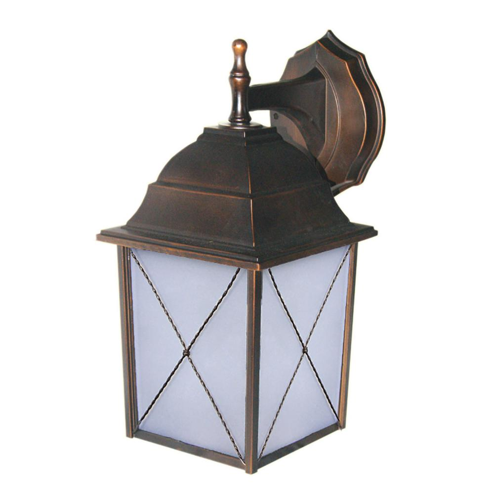 1-Light Oil-Rubbed Bronze Outdoor Wall Sconce