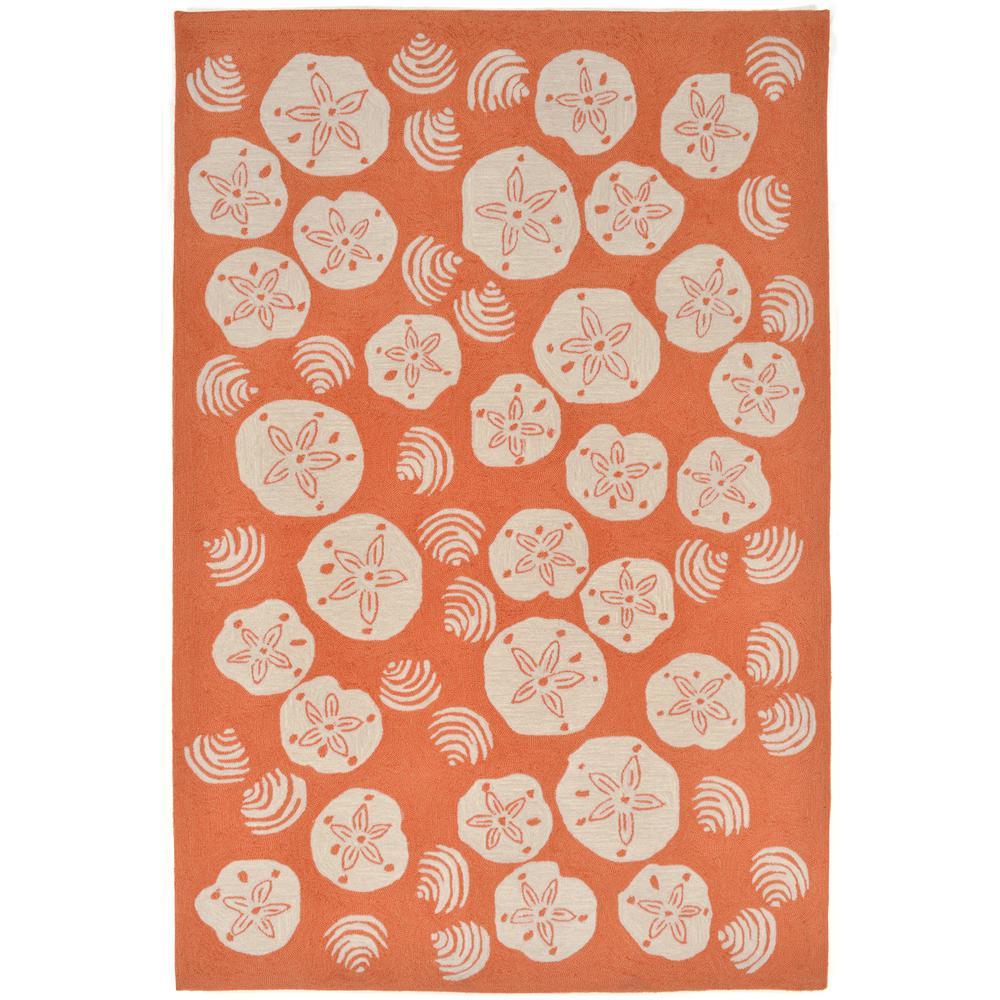 woodside ocean jewels coral 7 ft 6 in x 9 ft 6 in rectangle indoor outdoor area rug