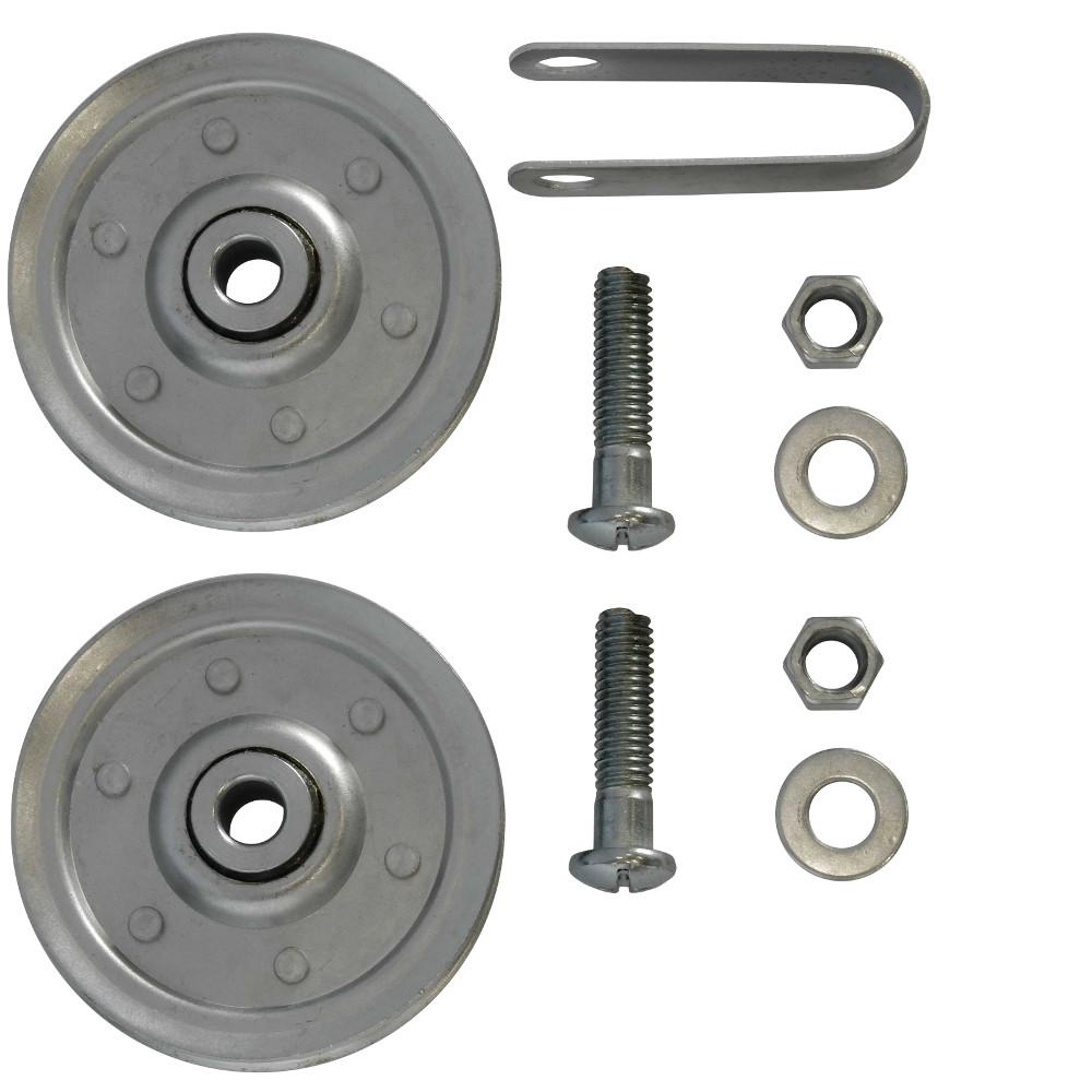 3 in. Garage Door Pulleys with Fork and Bolts (2-Pack)