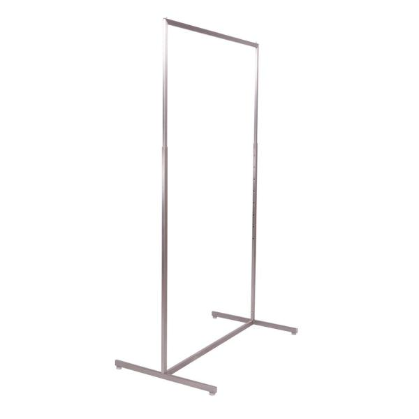 Satin Metal Adjustable Clothes Rack (42 in. W x 71 in. H)