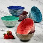 Certified International Petals Multi-color Bowls (Set of 6)