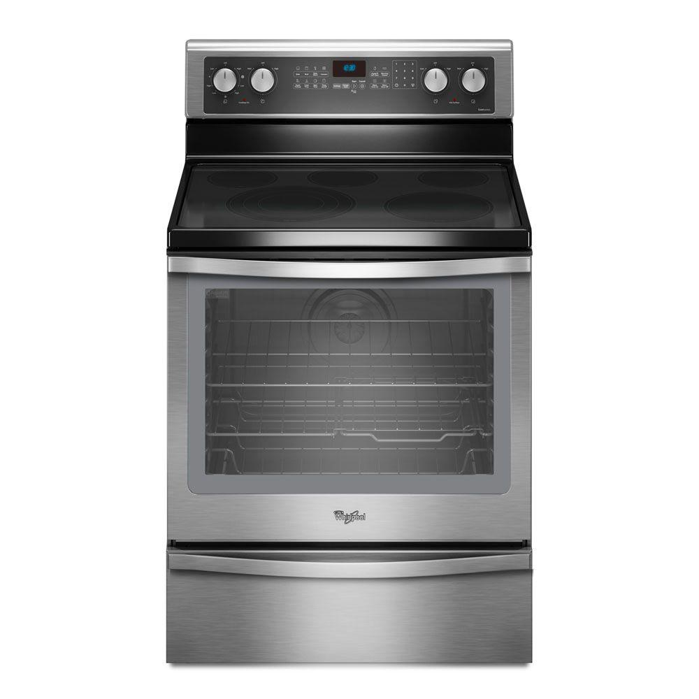 Whirlpool Gold 6.2 cu. ft. Electric Range with Self-Cleaning Convection Oven in Stainless Steel