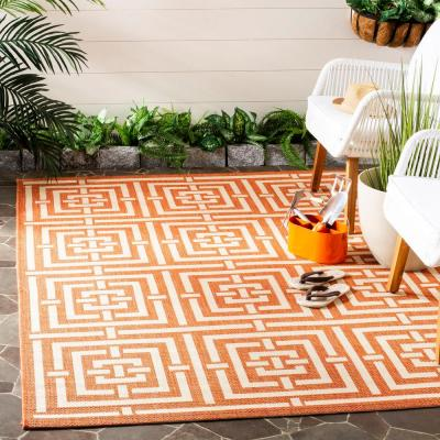 Orange 3 X 5 Outdoor Rugs Rugs The Home Depot