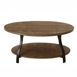 Denise Oval Oak Cocktail Table by