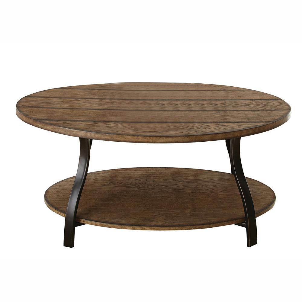 Denise Oval Oak Cocktail Table
