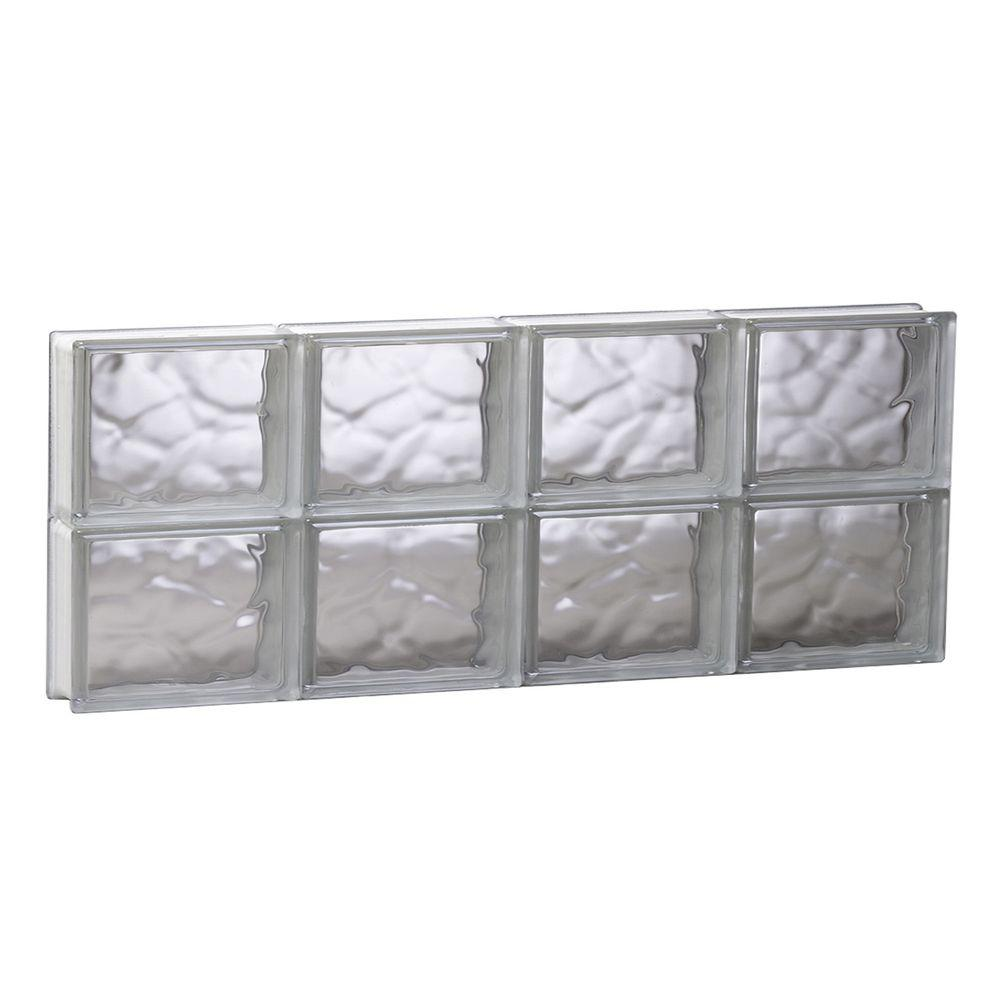 Clearly Secure 31 in. x 11.5 in. x 3.125 in. Frameless Wave Pattern ...