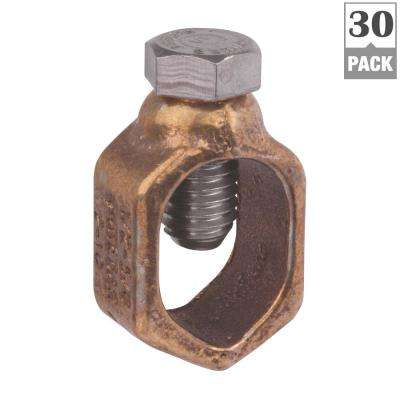 Ground Rod Clamp 0.5 in. and 5/8 in. (6 Packs of 5/Case - 30 Total Pieces)