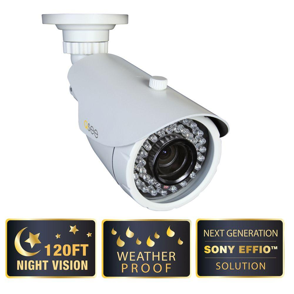 Q-SEE Elite Series Wired 600 TVL and 120 Night Vision Weatherproof Bullet Indoor Surveillance Camera-DISCONTINUED