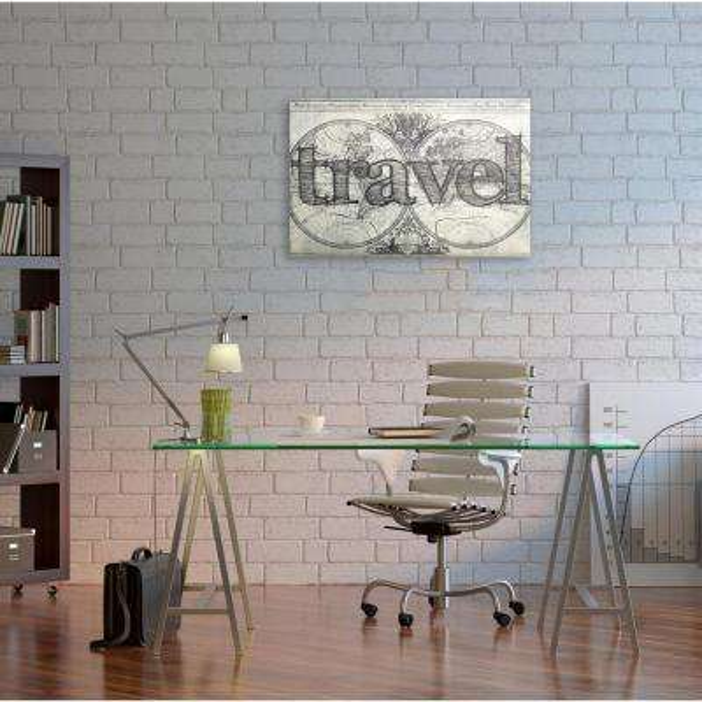 "20 in. x 30 in. ""World Travel"" By Wynwood Studio Wood Wall Art"