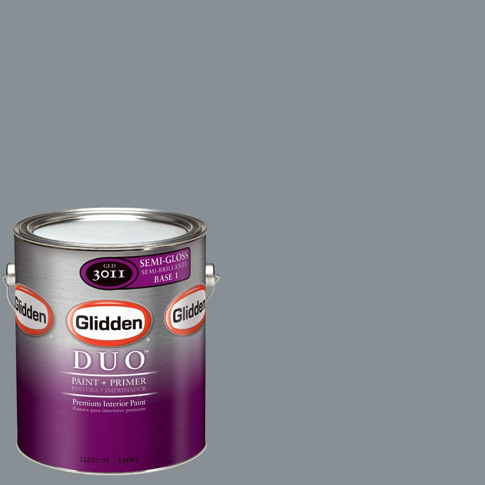 Glidden DUO Martha Stewart Living 1-gal. #MSL276-01S Shale Semi-Gloss Interior Paint with Primer-DISCONTINUED