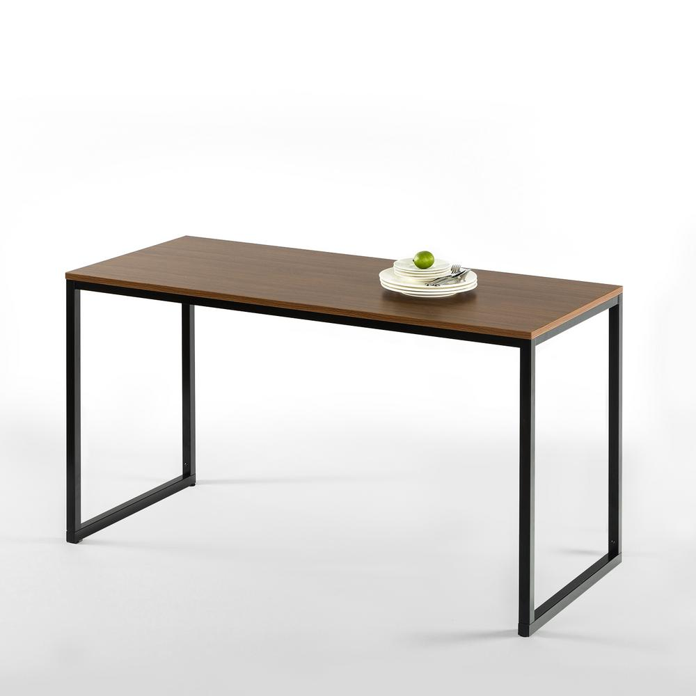 Zinus modern studio collection brown soho rectangular for Contemporary rectangular dining table
