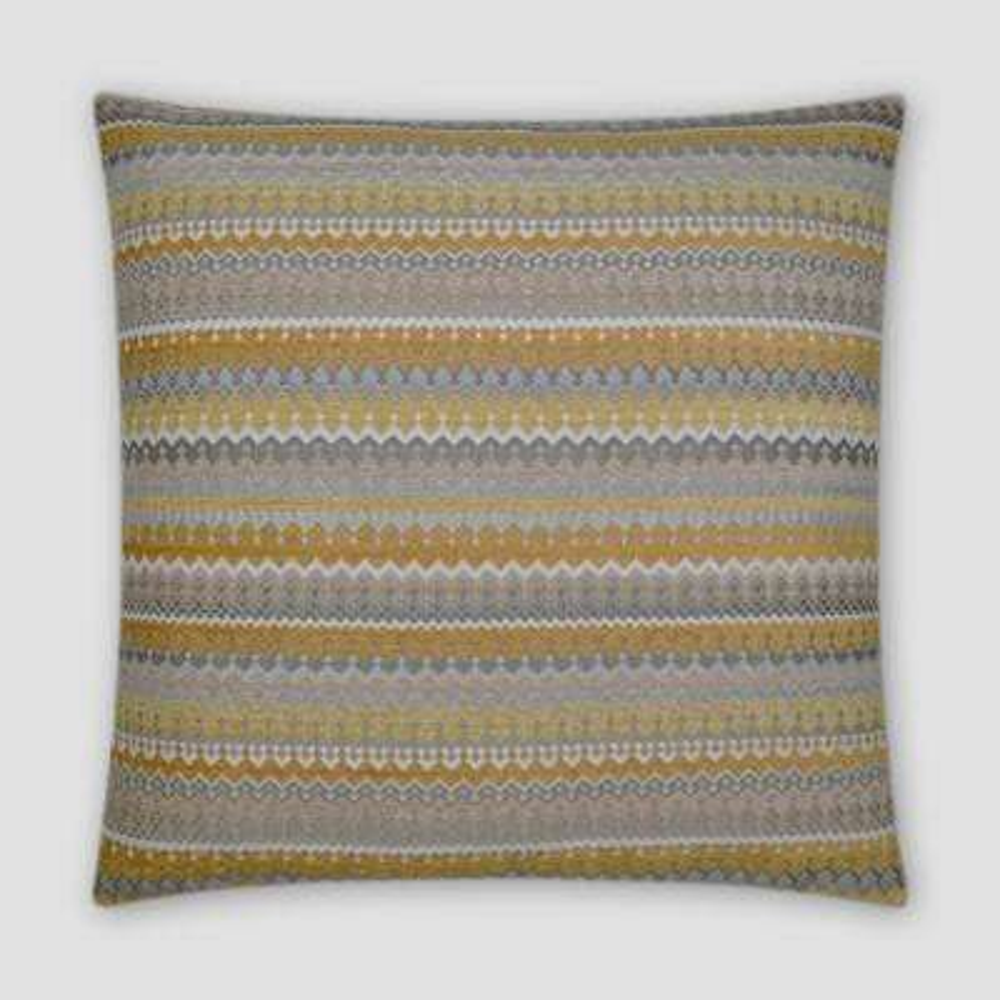 Denmark Lemon Feather Down 20 in. x 20 in. Standard Decorative Throw Pillow