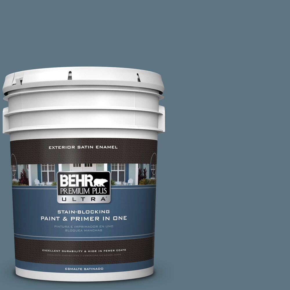 BEHR Premium Plus Ultra 5-gal. #530F-6 Heron Satin Enamel Exterior Paint