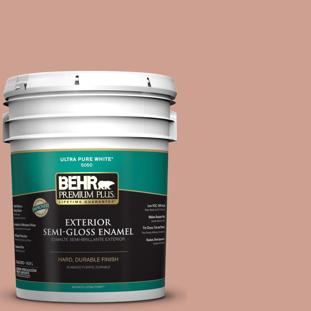 BEHR Premium Plus 5-gal. #S180-4 Shiny Kettle Semi-Gloss Enamel Exterior Paint