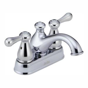 Leland 4 in. Centerset 2-Handle Bathroom Faucet in Chrome