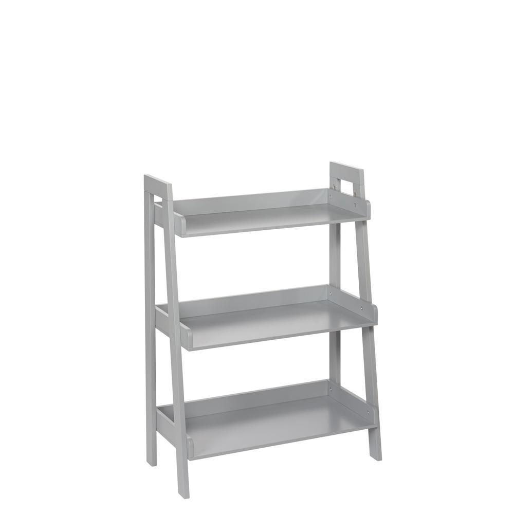 RiverRidge Home Amery Collection 24 in. W 3-Tier Floor Shelf in Gray