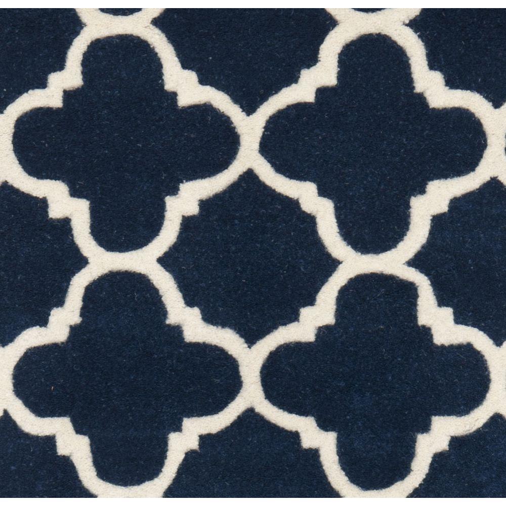 Safavieh Chatham Dark Blue Ivory 2 Ft X 11 Ft Runner Rug Cht717c 211 The Home Depot