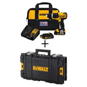 Dewalt 20-Volt MAX Lithium-Ion Compact Hammer Drill/Driver Kit with (2) Batteries, Charger, Bag and Bonus... by DEWALT