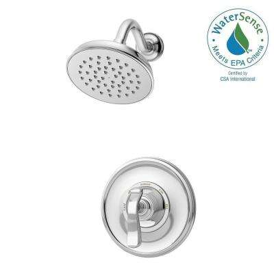 Winslet Single-Handle 1-Spray Shower Faucet in Chrome (Valve Included)