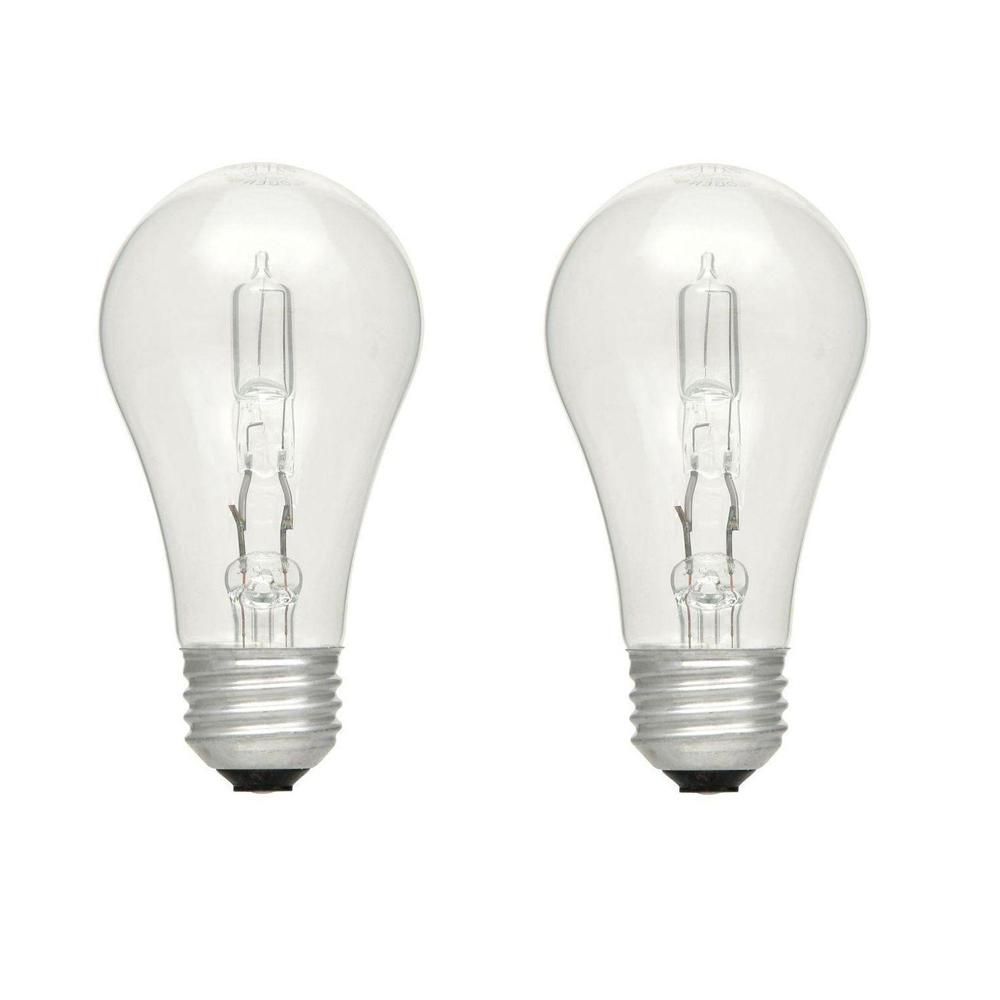 60-Watt Equivalent A19 Dimmable Clear Eco-Incandescent Light Bulb Soft White