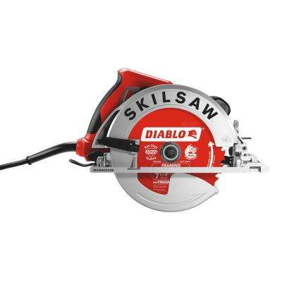 15 Amp Corded Electric 7-1/4 in. Magnesium SIDEWINDER Circular Saw with Brake with 24-Tooth Diablo Carbide Blade