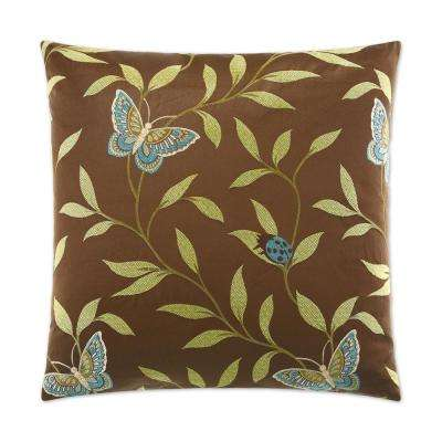 Papillon Feather Down 24 in. x 24 in. Standard Decorative Throw Pillow